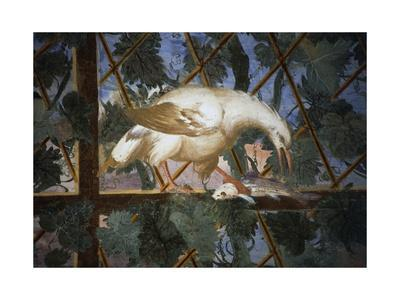 Bird with Fish in its Claws, Detail from Frescoes, Villa Giulia--Framed Giclee Print