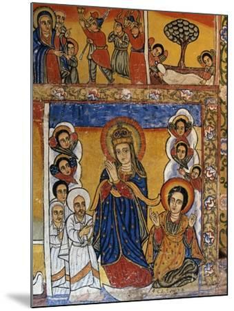 Virgin, Scenes from Sacred Books, Paintings in Ura Kidane Meret Monastery--Mounted Giclee Print