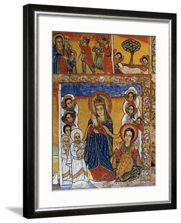 Virgin, Scenes from Sacred Books, Paintings in Ura Kidane Meret Monastery--Framed Giclee Print