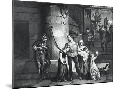Illustration for the Tragedy Il Conte Di Carmagnola--Mounted Giclee Print