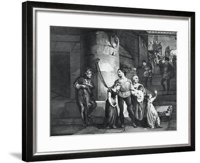 Illustration for the Tragedy Il Conte Di Carmagnola--Framed Giclee Print
