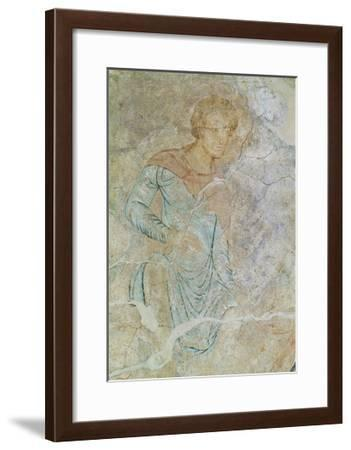 Daniel in Lions' Den, Fresco of Chapter House, Abbey of Cluny--Framed Giclee Print