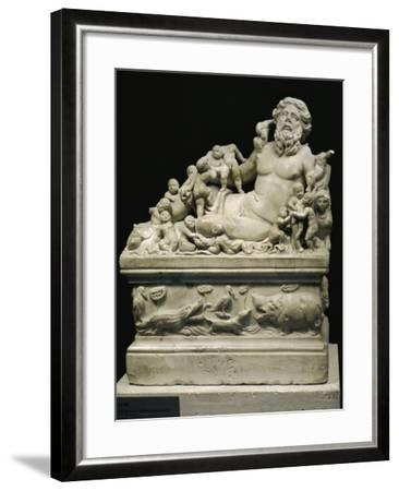 Marble Statue Representing Tiber River, Copy on Smaller Scale of Statue--Framed Giclee Print