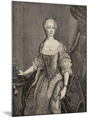 Elisabeth Christine of Brunswick-Wolfenbuttel-Bevern--Mounted Giclee Print
