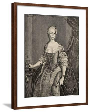 Elisabeth Christine of Brunswick-Wolfenbuttel-Bevern--Framed Giclee Print