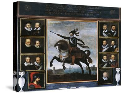 Equestrian Portrait of Henry IV of Bourbon--Stretched Canvas Print