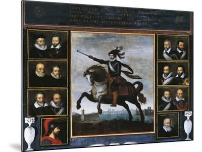 Equestrian Portrait of Henry IV of Bourbon--Mounted Giclee Print