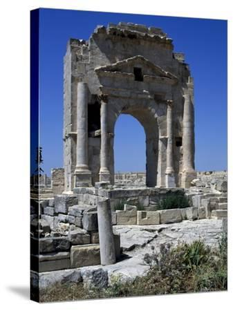 Arch of Trajan Dedicated in 116 Ad at Ruins of Ancient Town of Mactaris--Stretched Canvas Print