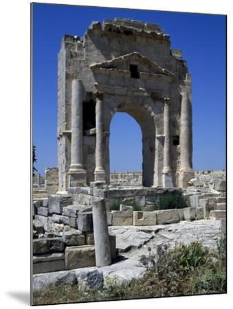 Arch of Trajan Dedicated in 116 Ad at Ruins of Ancient Town of Mactaris--Mounted Giclee Print