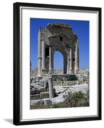Arch of Trajan Dedicated in 116 Ad at Ruins of Ancient Town of Mactaris--Framed Giclee Print