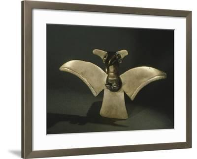 Eagle with Open Wings, Gold Artifact Originating from Veraguas--Framed Giclee Print