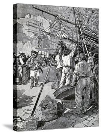 Illustration for Tartarin of Tarascon, Novel by Alphonse Daudet--Stretched Canvas Print
