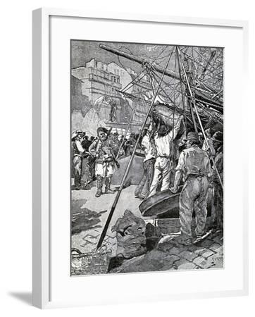 Illustration for Tartarin of Tarascon, Novel by Alphonse Daudet--Framed Giclee Print