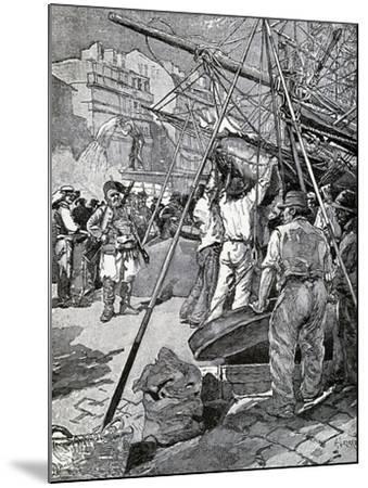 Illustration for Tartarin of Tarascon, Novel by Alphonse Daudet--Mounted Giclee Print
