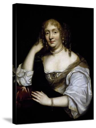 Portrait of Marie De Rabutin-Chantal, Marquise De Sevigne--Stretched Canvas Print