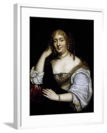 Portrait of Marie De Rabutin-Chantal, Marquise De Sevigne--Framed Giclee Print