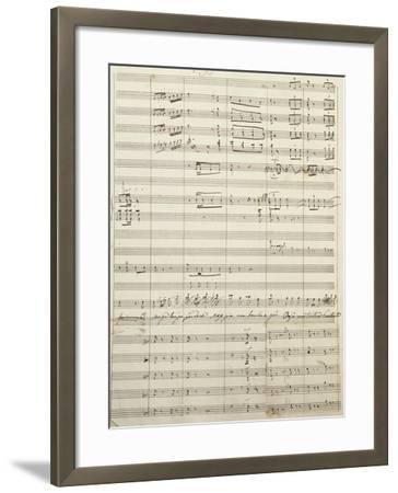 Autograph Sheet Music of Act I of Gina, Opera by Francesco Cilea--Framed Giclee Print