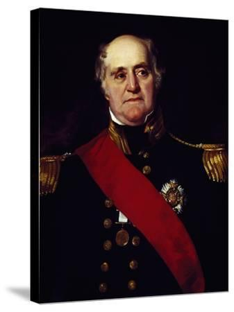 Portrait of Sir Thomas Masterman Hardy, Vice-Admiral of Blue--Stretched Canvas Print