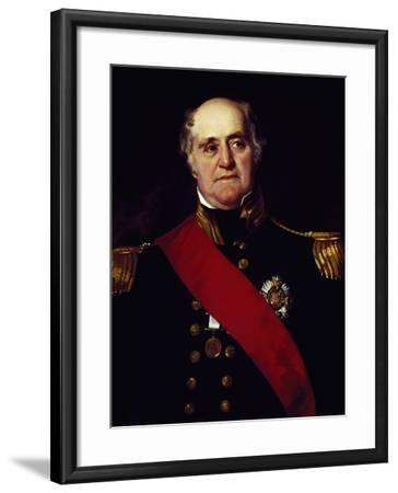 Portrait of Sir Thomas Masterman Hardy, Vice-Admiral of Blue--Framed Giclee Print