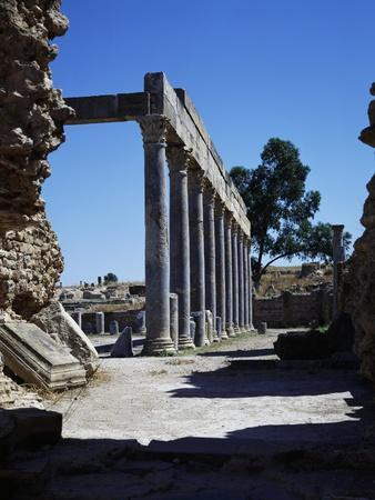 Portico with Corinthian Columns of Gymnasium of Petronii--Framed Giclee Print