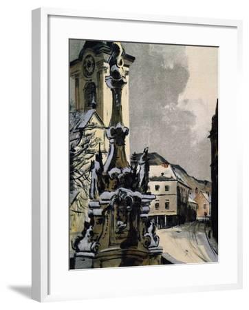View of Hainburg an Der Donau, Austria, City Where Franz Joseph Haydn--Framed Giclee Print