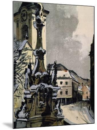 View of Hainburg an Der Donau, Austria, City Where Franz Joseph Haydn--Mounted Giclee Print