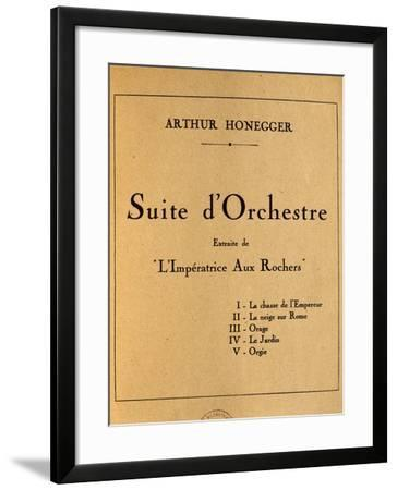 Title Page of Empress of Rocks, Orchestral Suite by Arthur Honegger--Framed Giclee Print