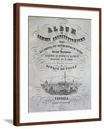 Album of Architectural Gems, by Joseph Zanetti, Drawings by Marco Moro--Framed Giclee Print