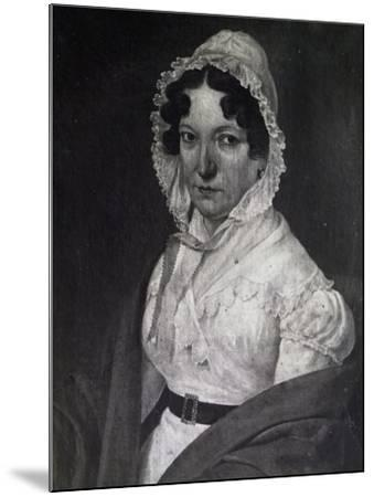 Portrait of Anna Guidarini, Mother of Italian Composer Gioachino Rossini--Mounted Giclee Print