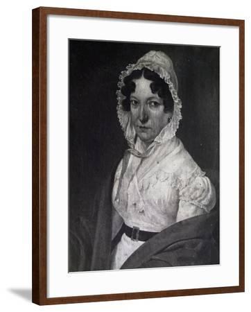 Portrait of Anna Guidarini, Mother of Italian Composer Gioachino Rossini--Framed Giclee Print