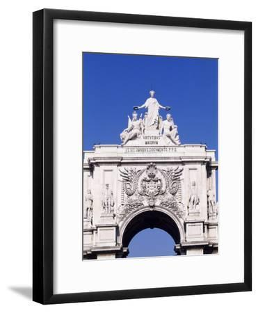 Triumphal Arch or Arch of Rua Augusta in Commerce Square--Framed Giclee Print