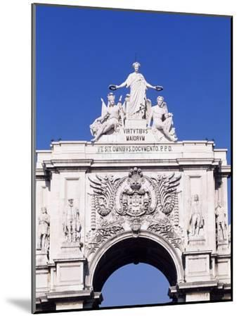 Triumphal Arch or Arch of Rua Augusta in Commerce Square--Mounted Giclee Print