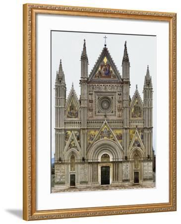 Digital Reconstruction of Facade of Orvieto Cathedral--Framed Giclee Print