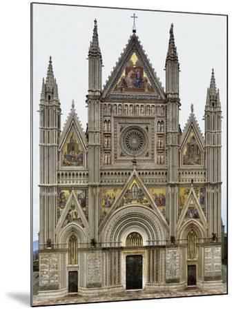 Digital Reconstruction of Facade of Orvieto Cathedral--Mounted Giclee Print
