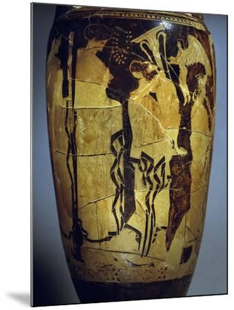 Red-Figure Loutrophoros Representing Offering of Gifts to Bride--Mounted Giclee Print