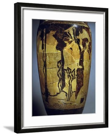 Red-Figure Loutrophoros Representing Offering of Gifts to Bride--Framed Giclee Print