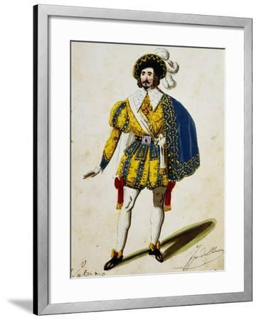 Costume Sketch for Maria Padilla, Opera by Gaetano Donizetti--Framed Giclee Print
