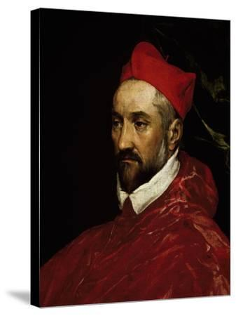 Portrait of Charles De Guise, Cardinal of Lorraine--Stretched Canvas Print