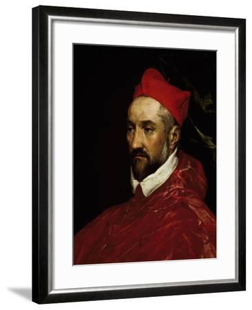 Portrait of Charles De Guise, Cardinal of Lorraine--Framed Giclee Print