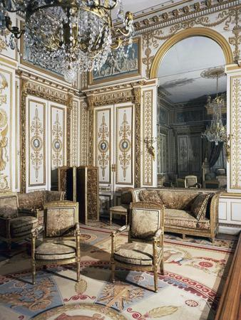 Emperor's Bedroom, Large Apartments of Napoleon I, Palace of Fontainebleau--Framed Giclee Print