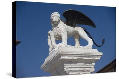 Statue in the Piazza Degli Scacchi, Marostica, Veneto, Italy--Stretched Canvas Print
