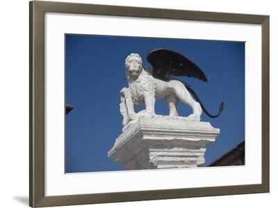 Statue in the Piazza Degli Scacchi, Marostica, Veneto, Italy--Framed Photographic Print