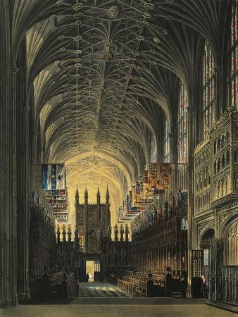 St George's Chapel at Windsor Castle, 1819--Framed Giclee Print