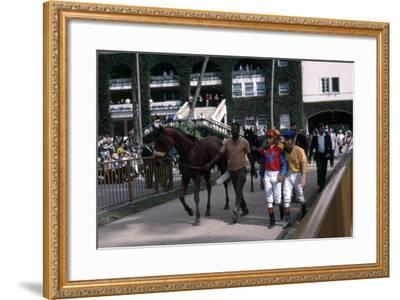 Winning Horse and Jockey at Hialeah Park, Miami, C.1975--Framed Photographic Print