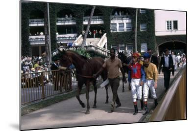 Winning Horse and Jockey at Hialeah Park, Miami, C.1975--Mounted Photographic Print