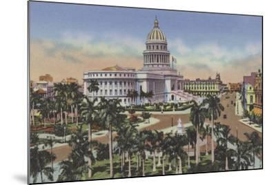 Parque De La Fraternidad Y Capitolio, Fraternity Square and Capitol--Mounted Photographic Print
