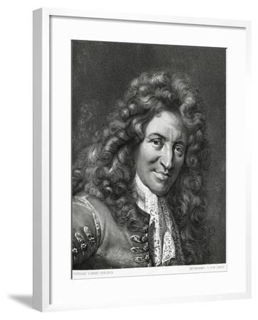 Portrait of Giovanni Battista Lulli or Jean-Baptiste Lully--Framed Giclee Print