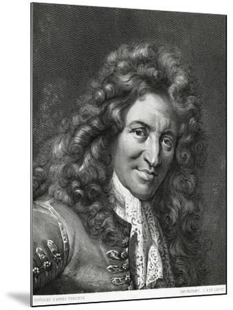 Portrait of Giovanni Battista Lulli or Jean-Baptiste Lully--Mounted Giclee Print