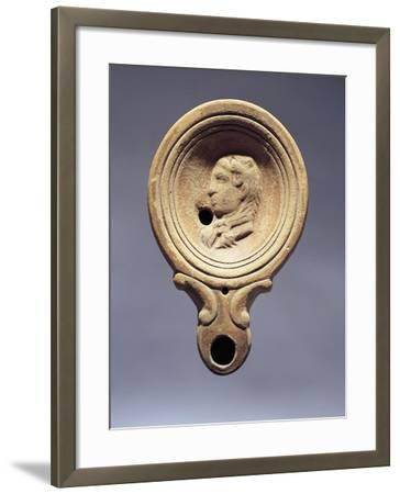 Italy, Garda Lake, Fictile Votive Lamp Decorated with Hercules--Framed Giclee Print