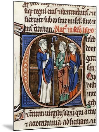France, Saint Jerome and His Companions, Miniature from the Latin Bible--Mounted Giclee Print
